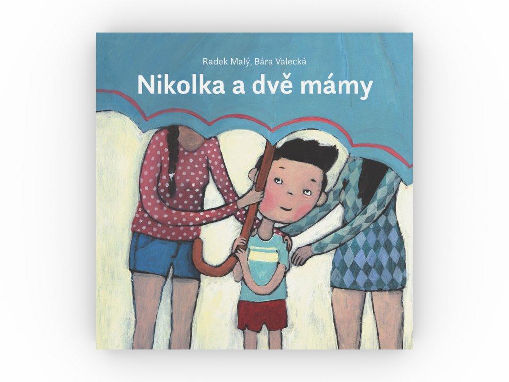 CD leporelo Nikolka a dve mamy obalka celni pohled 3D