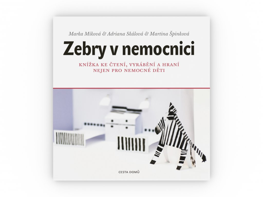CD kniha Zebry v nemocnici obalka celni pohled 3D