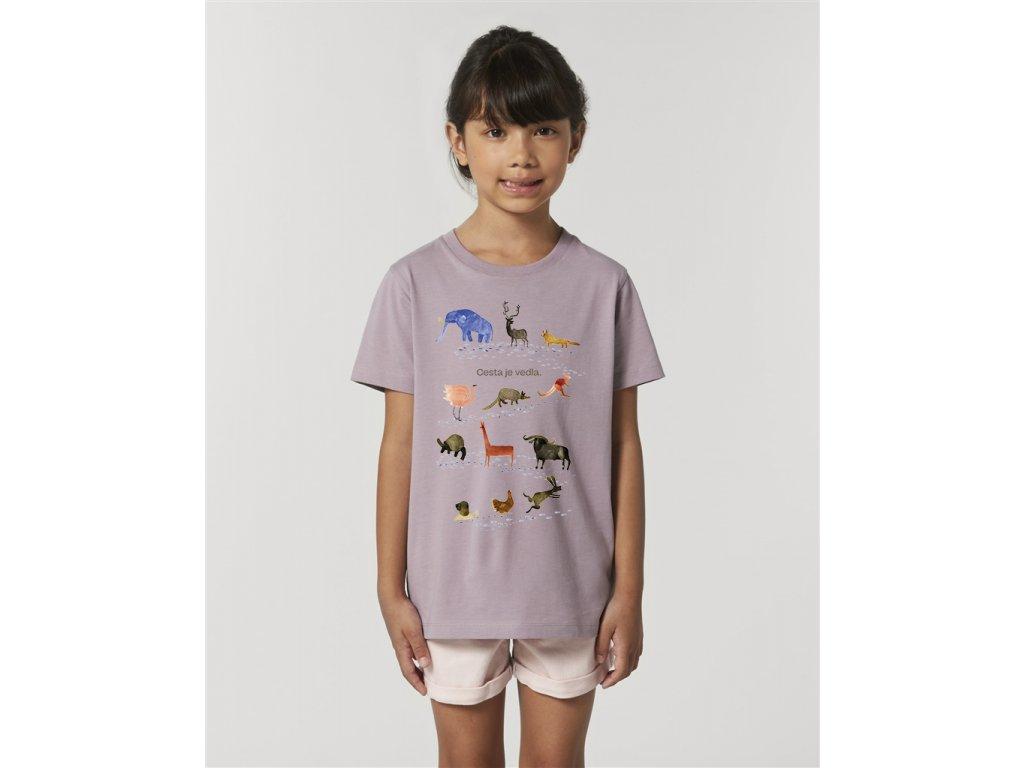 Dětské tričko - Cesta je vedla. Zvířata