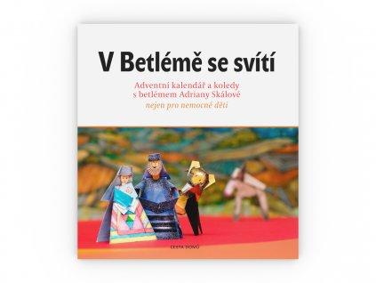 CD kniha V betleme se sviti obalka celni pohled 3D