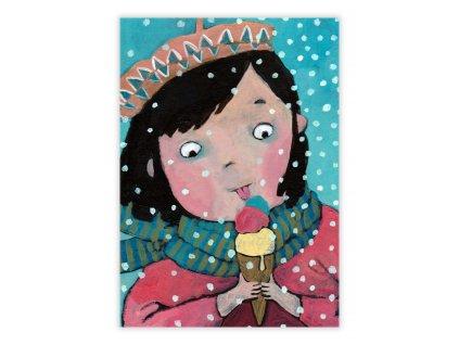 Zimní pohlednice