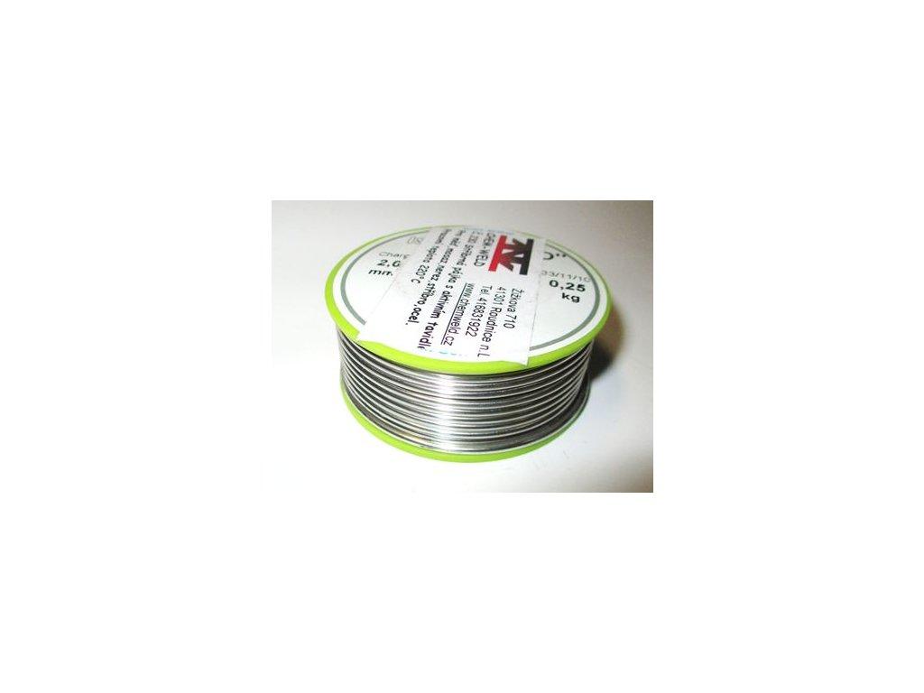 Měkká pájka s tavidlem se stříbrem CHEM-WELD 230 F (Balení 250g, Průměr 2,0 mm)