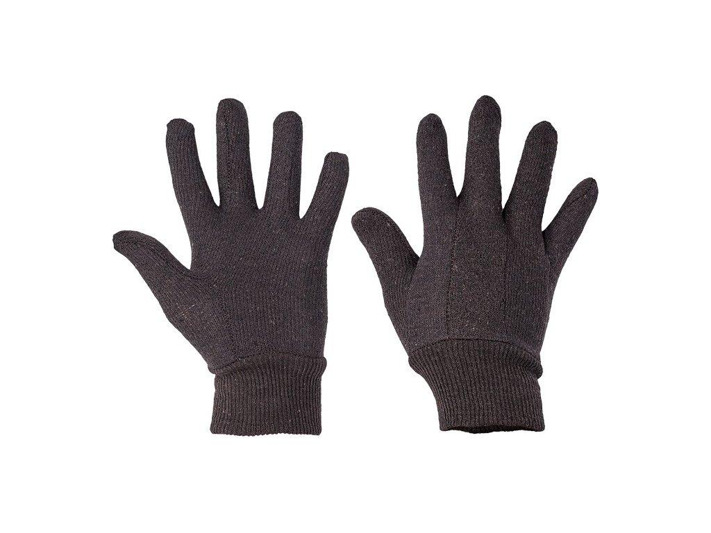 rukavice bavlnene teplakove hnede