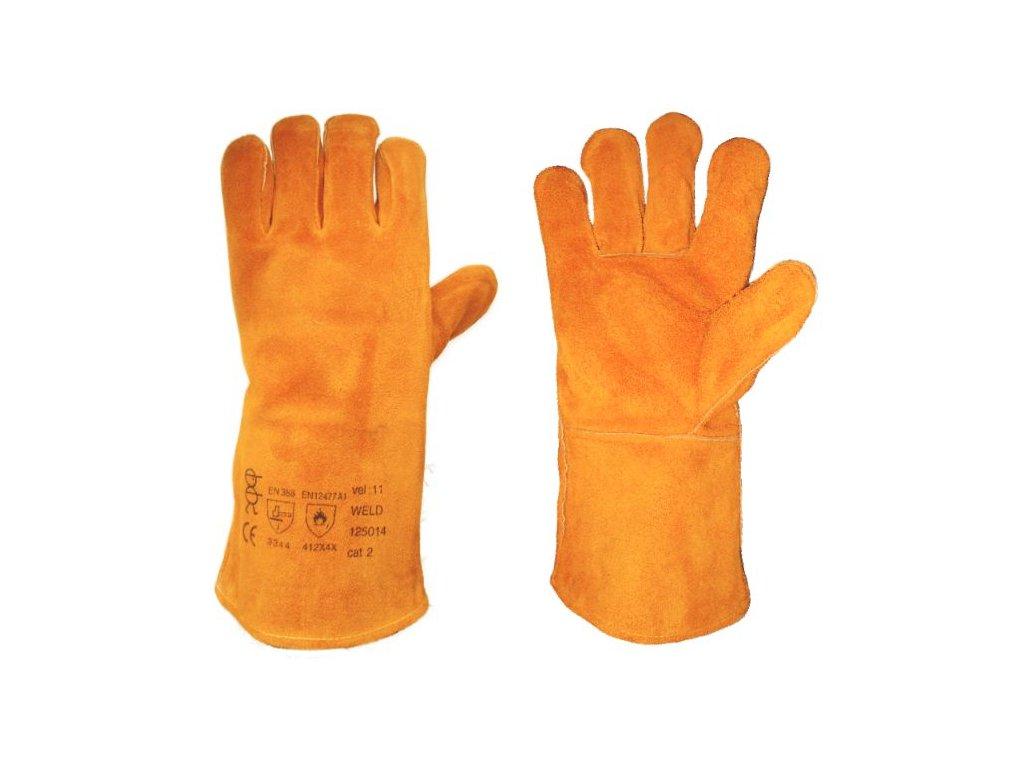 1570 rukavice svarecske v 11 zlute