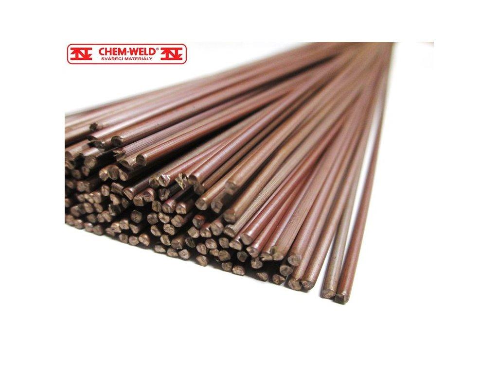 Mosazná pájka pro pájení mědi, oceli a oceli CHEM-WELD 501 (Balení KG, Průměr 2,0 mm)