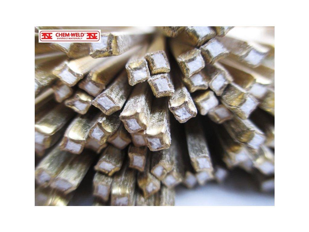 Tvrdá pájka na ocel naplněná tavidlem CHEM-WELD 4300 (Balení KG, Průměr 2,5 mm)