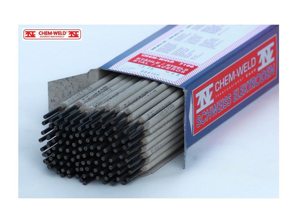 Elektroda na ocel, ocelolitinu, na rez, olej, pozink CHEM-WELD 7100 (Balení KG, Průměr 2,0 mm)