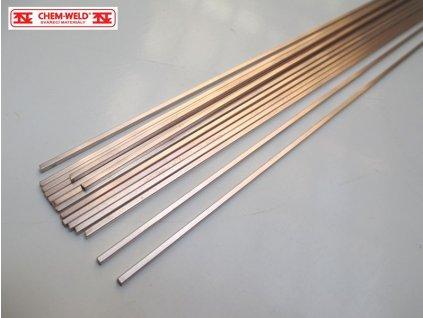Pájka na měď pro kapilární pájení CHEM-WELD 550 (Balení KG, Průměr 1,5 mm)
