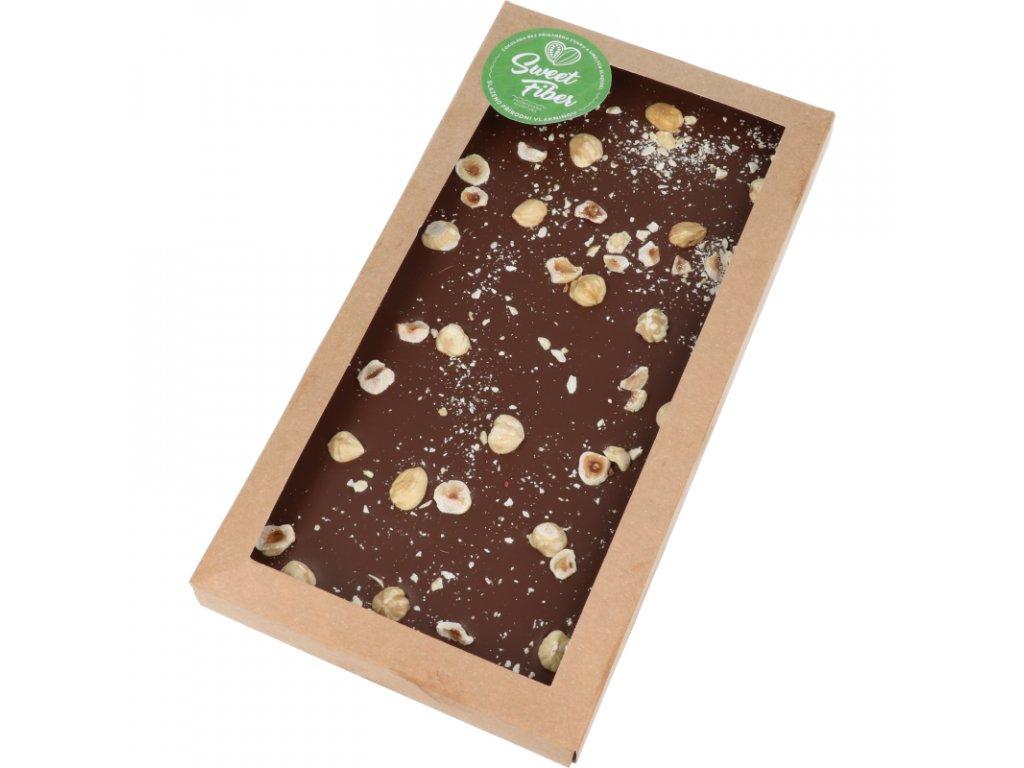 Maxi tabulka 300g Sweet Fiber - lískové ořechy