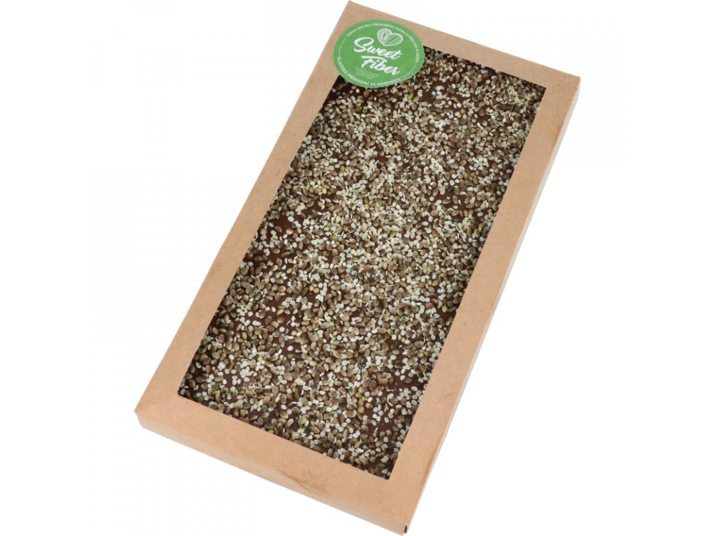 Maxi tabulka 300g Sweet Fiber - konopná semínka