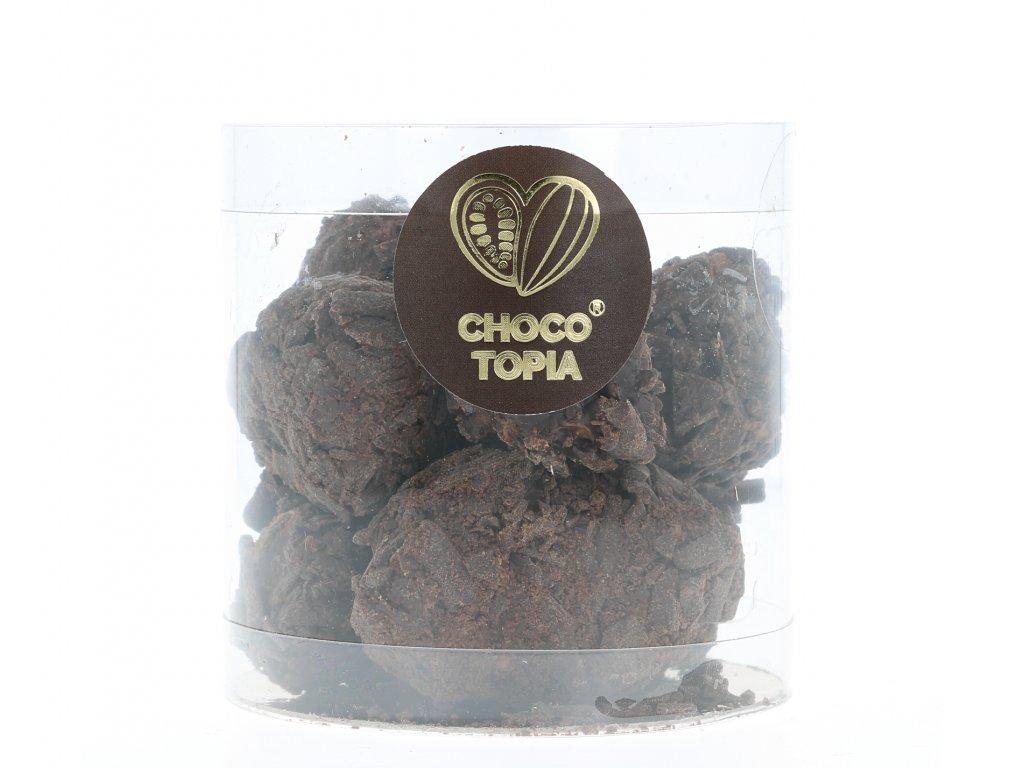 Lískooříškové lanýže v hoblinách z hořké čokolády 150g