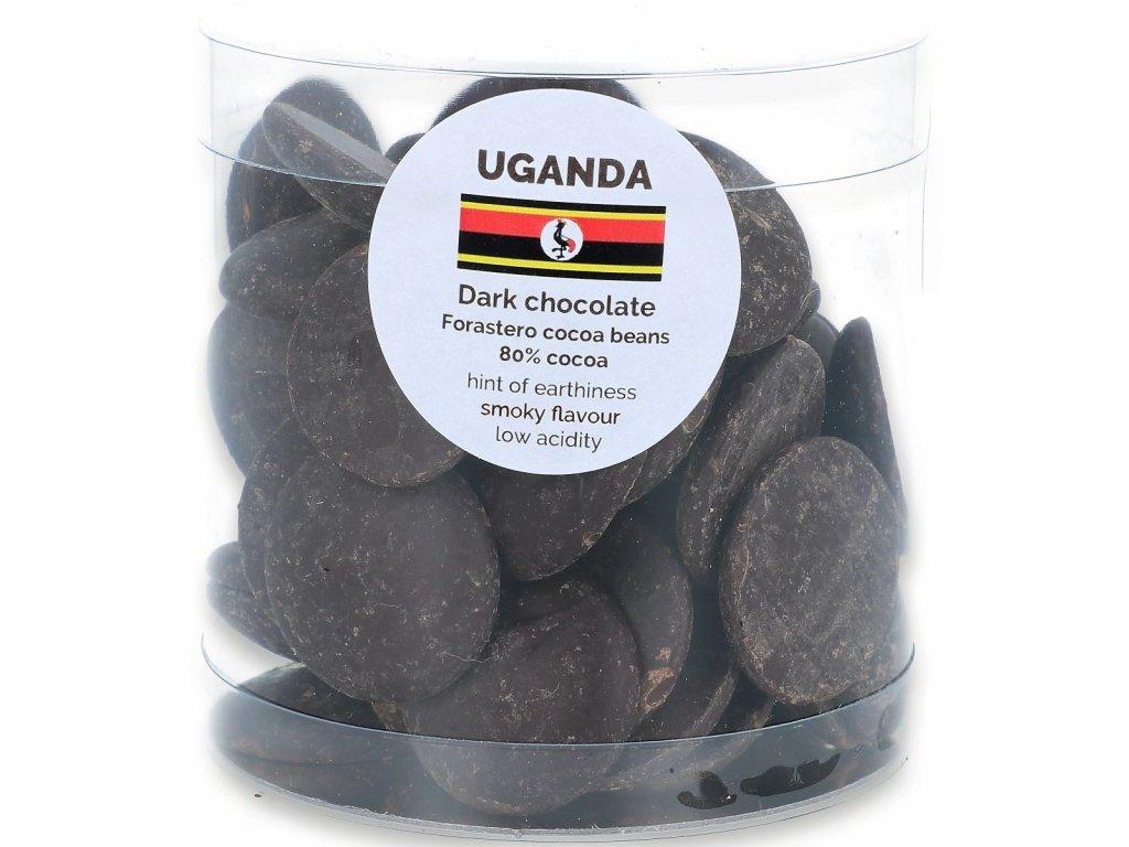 160g dropsy Uganda hořké 80%