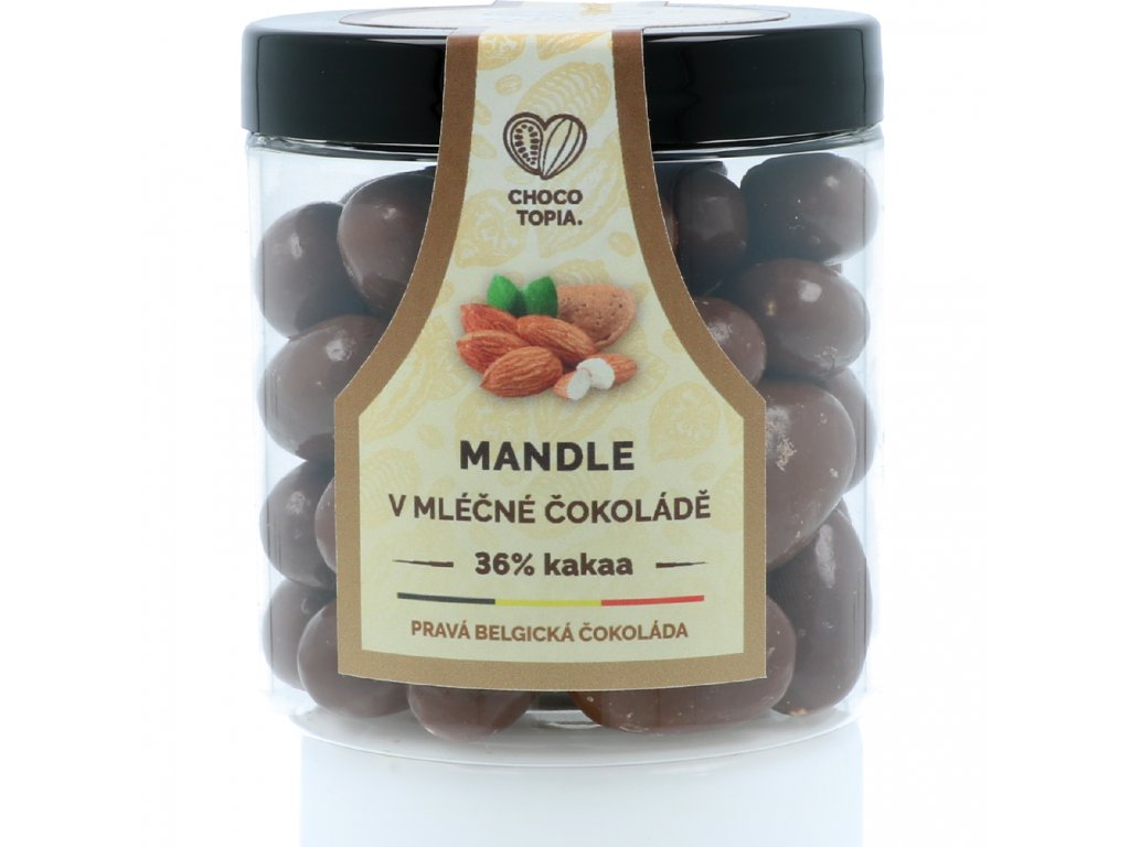 Chocotopia mandle v pravé belgické čokoládě 160g