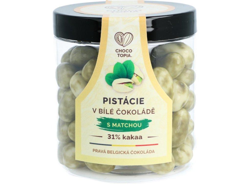 Chocotopia pistácie v pravé bílé matcha belgické čokoládě 31% 160g