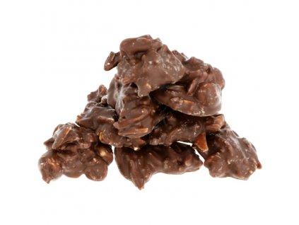Hrudky ze Sweet Fiber čokolády - ořechové (mandle + lískový oříšek) 175g