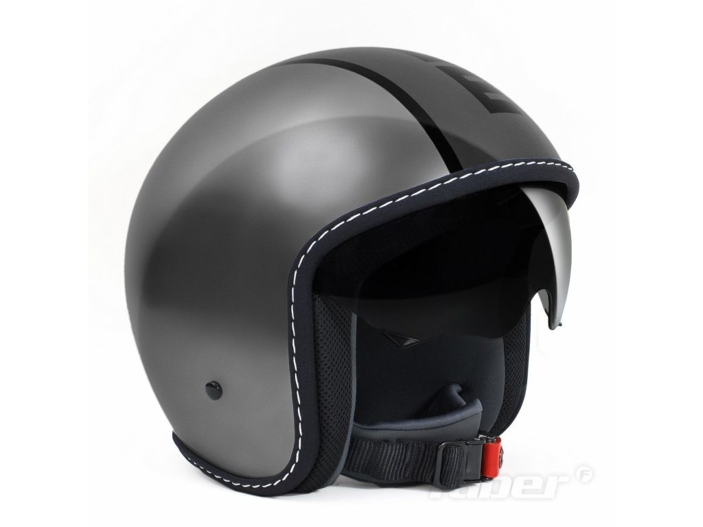 MOMO Design Jet-Helm - Helm BLADE metall/grey
