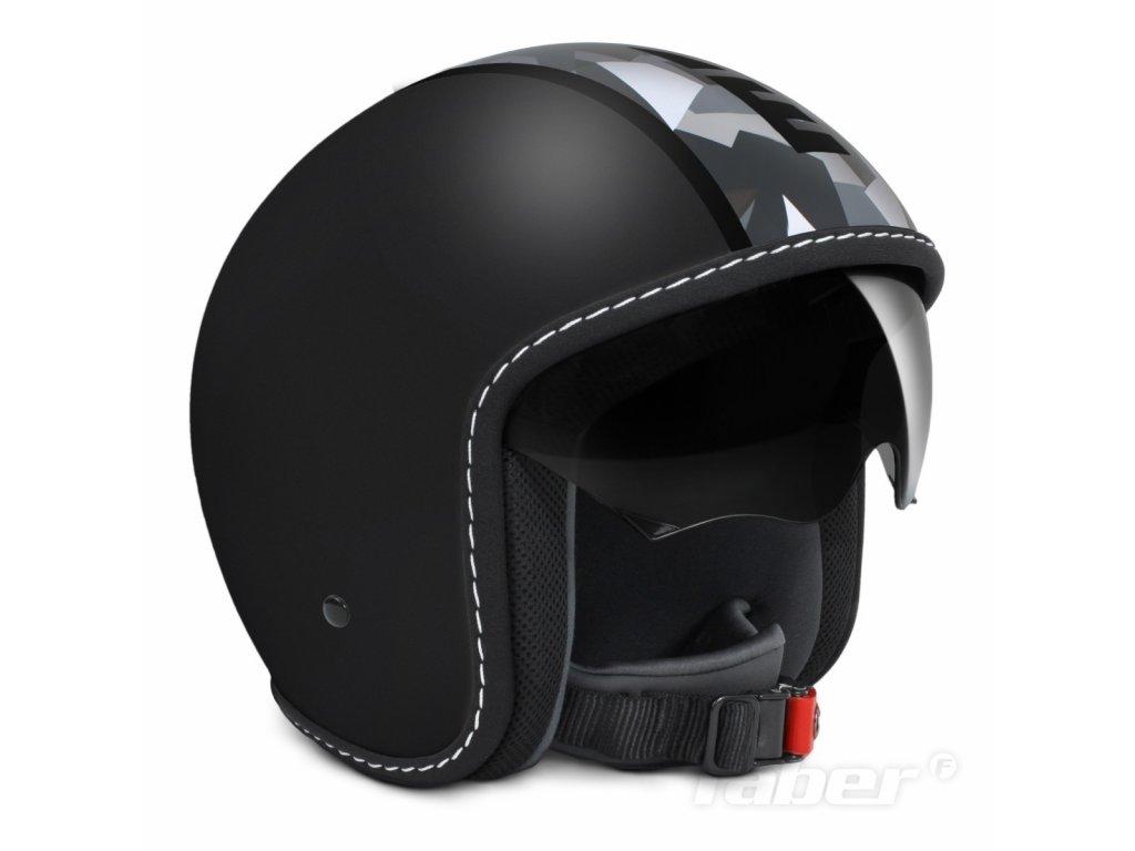 MOMO design BLADE - černá matná/šedobílá