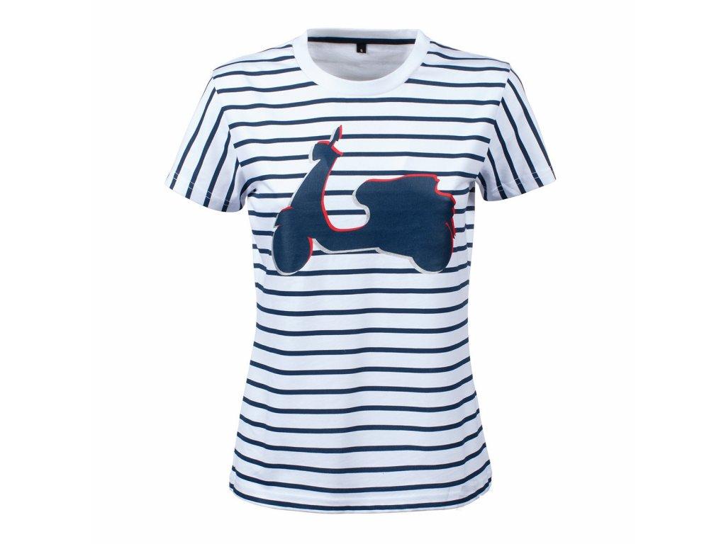 Tričko dámské Vespa  - GRAPHIC pruhované
