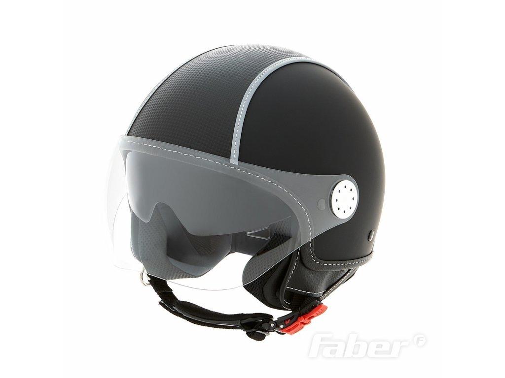 """Otevřená helma Piaggio - """"CARBONSKIN"""", matná černá"""