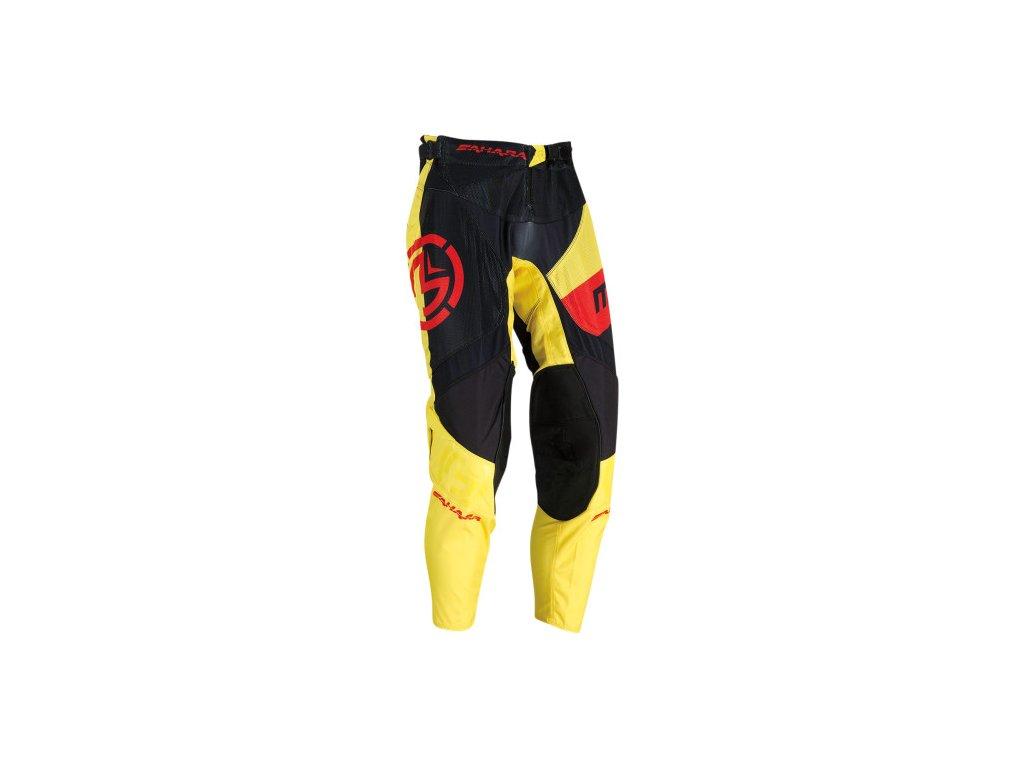 Moose Racing - Sahara ™ kalhoty černo/žluto/červené