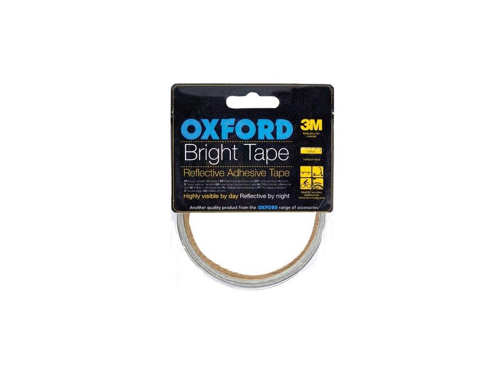 reflexní samolepící páska Bright Tape, OXFORD (šedá reflexní, délka 4,5 m, šířka 10 mm)