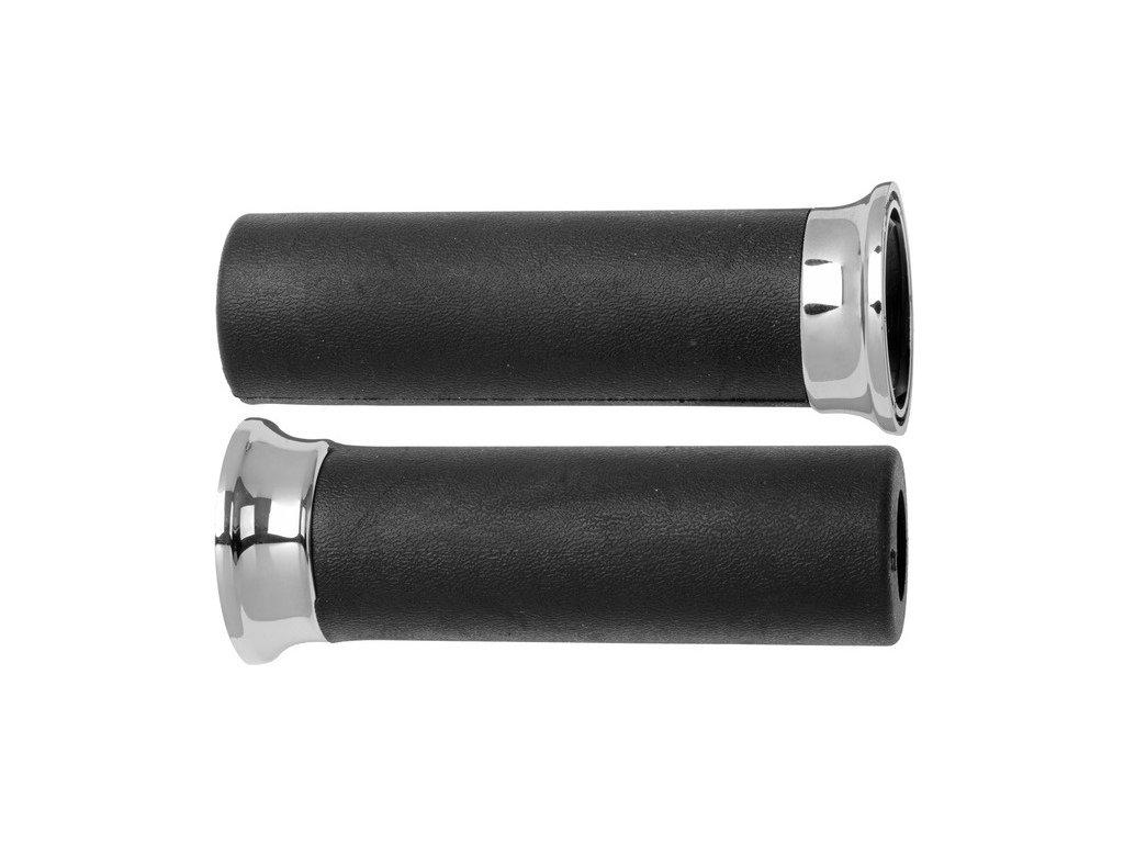 gripy 4141 (custom) délka 120 mm, DOMINO (černé)