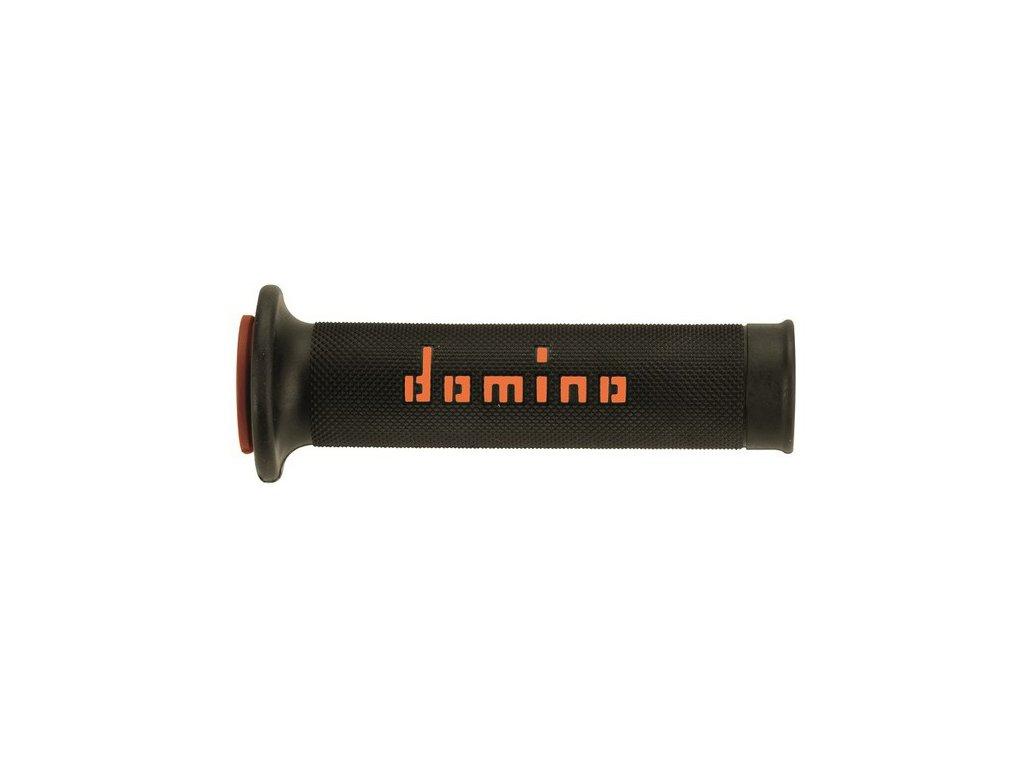gripy A010 (road) délka 120 + 125 mm, DOMINO (černo-oranžové)