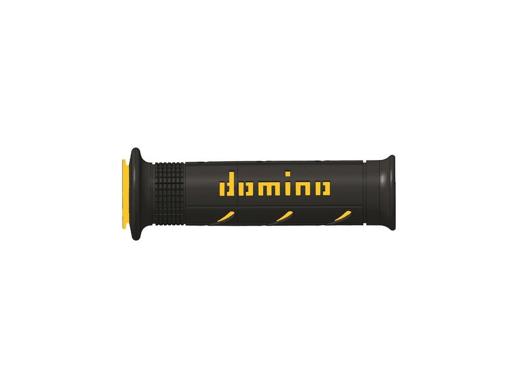 gripy A250 (road) délka 120 + 125 mm, DOMINO (černo-žluté)