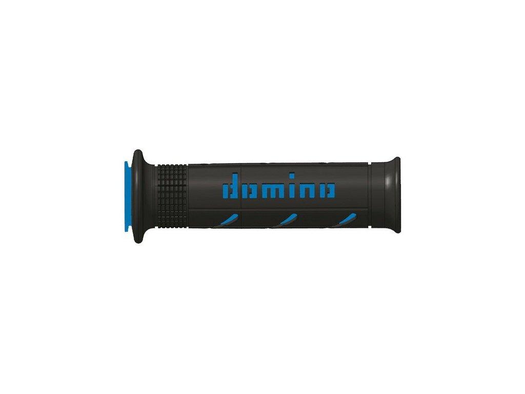 gripy A250 (road) délka 120 + 125 mm, DOMINO (černo-modré)