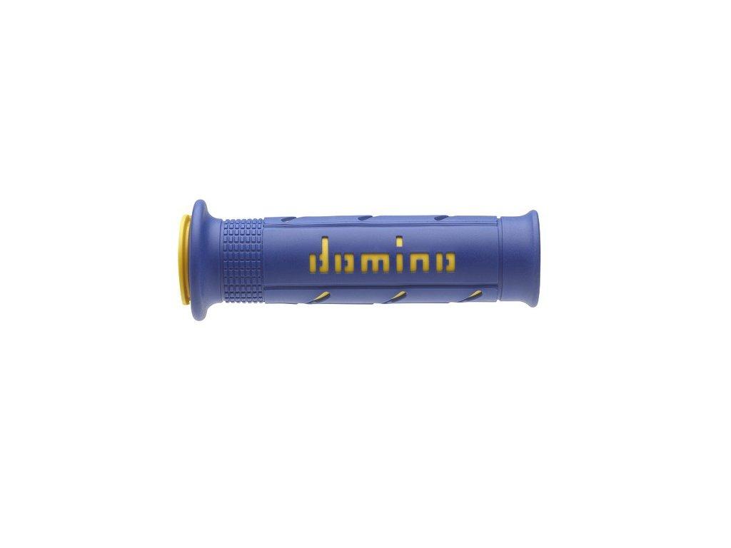 gripy A250 (road) délka 120 + 125 mm, DOMINO (modro-žluté)