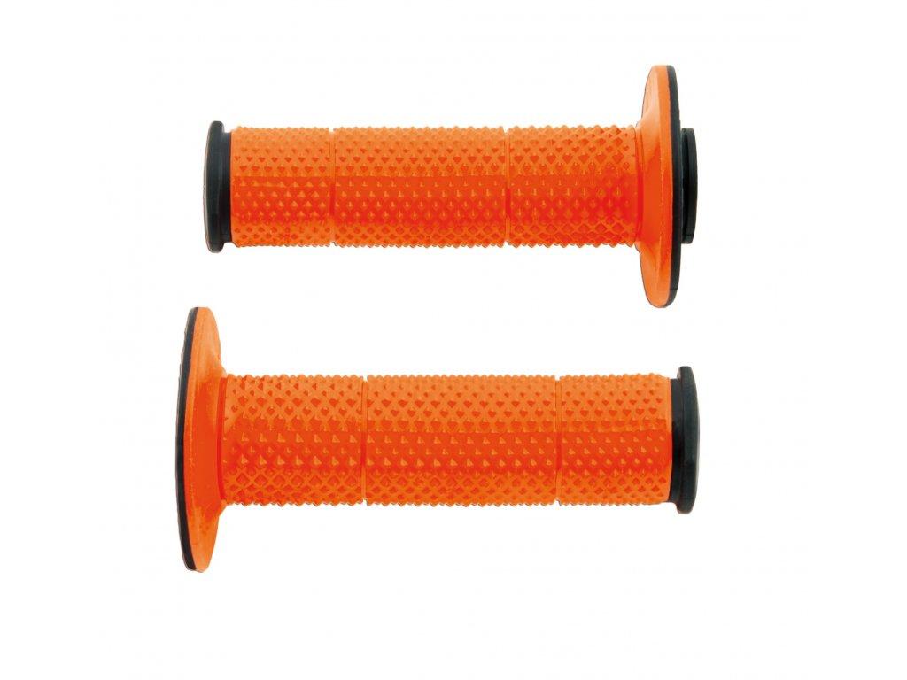 gripy FULL DIAMOND, RTECH (černé/oranžové, extra měkké, pár)