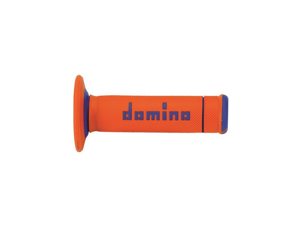 gripy A190 (offroad) délka 118 mm, DOMINO (oranžovo-modré)