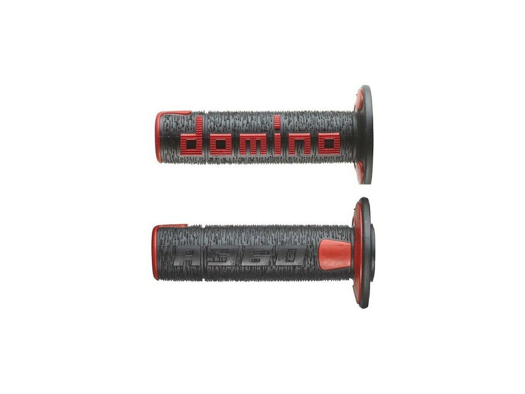 gripy A360 (offroad) délka 120 mm, DOMINO (černo-červené)