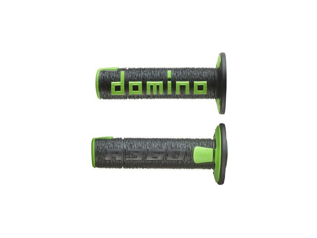 gripy A360 (offroad) délka 120 mm, DOMINO (černo-zelené)