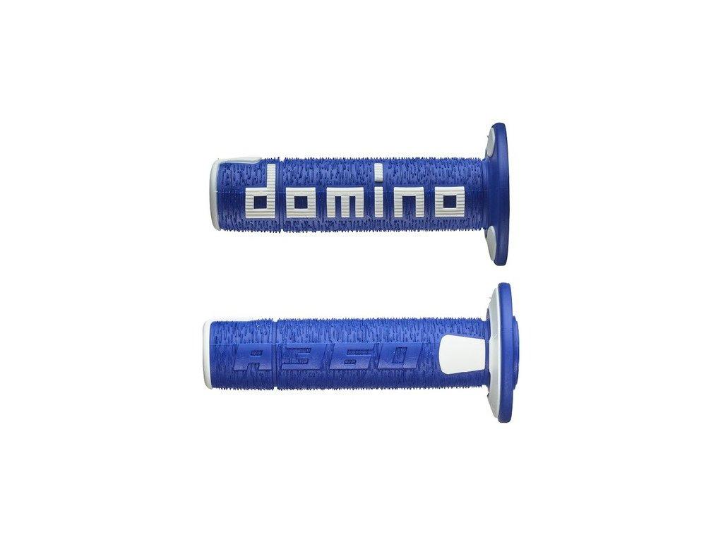 gripy A360 (offroad) délka 120 mm, DOMINO (modro-bílé)