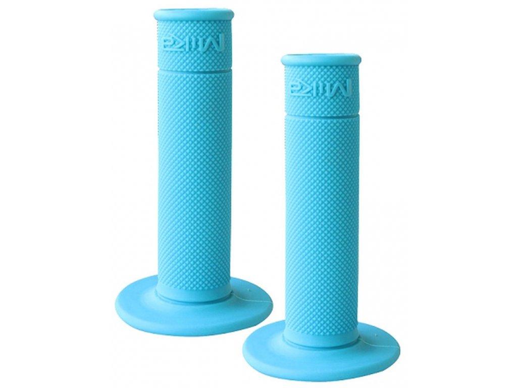 """gripy motokrosové """"50/50 WAFFLE GRIPS"""" (soft), MIKA (světlá modrá)"""