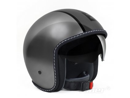 MOMO Design Jet-Helm - Helm BLADE metall/grey