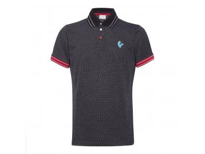 Polo tričko pánské VESPA V-Stripes černé