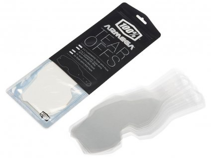 strhávací slídy plexi LAMINOVANÉ pro brýle ARMEGA, 100% (2X7 vrstev v balení, čiré)