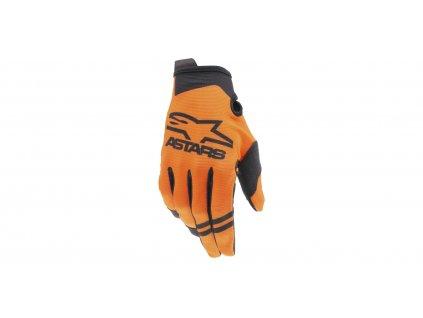 rukavice RADAR 2021, ALPINESTARS, dětské (oranžová/černá)