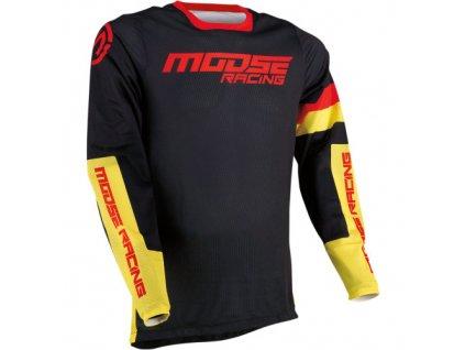 Moose Racing - Sahara ™ dres černo/žluto/červený