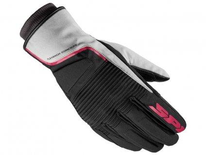 rukavice BREEZE LADY H2OUT, SPIDI (černé/šedé/fialové)