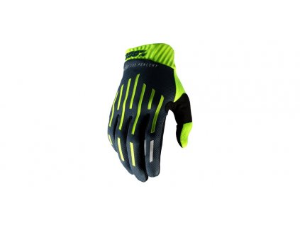rukavice RIDEFIT, 100% (fluo zelená/černá)
