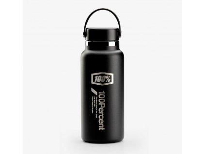 hydro láhev - Wide Mouth, 100% - USA (černá)