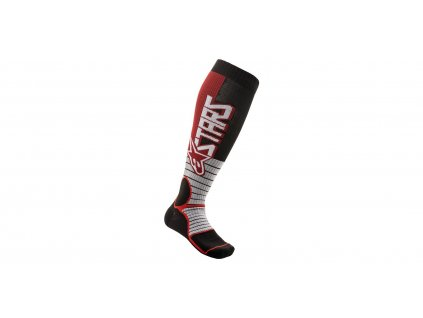 ponožky MX PRO SOCKS 2021, ALPINESTARS (červená/černá)