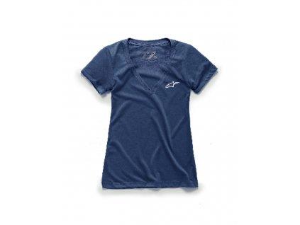 triko AGELESS VNECK TEE, ALPINESTARS, dámské (tmavě modrá)