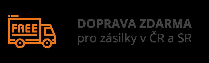 DOPRAVA ZDARMA pro zásilky v ČR a SR