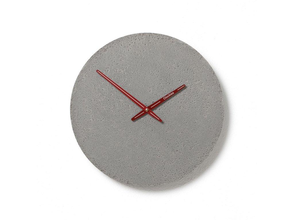 CL300110 Šedé hodiny z betonu