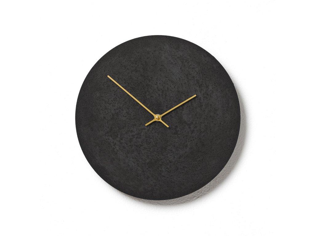 CL300306 Černé hodiny z betonu