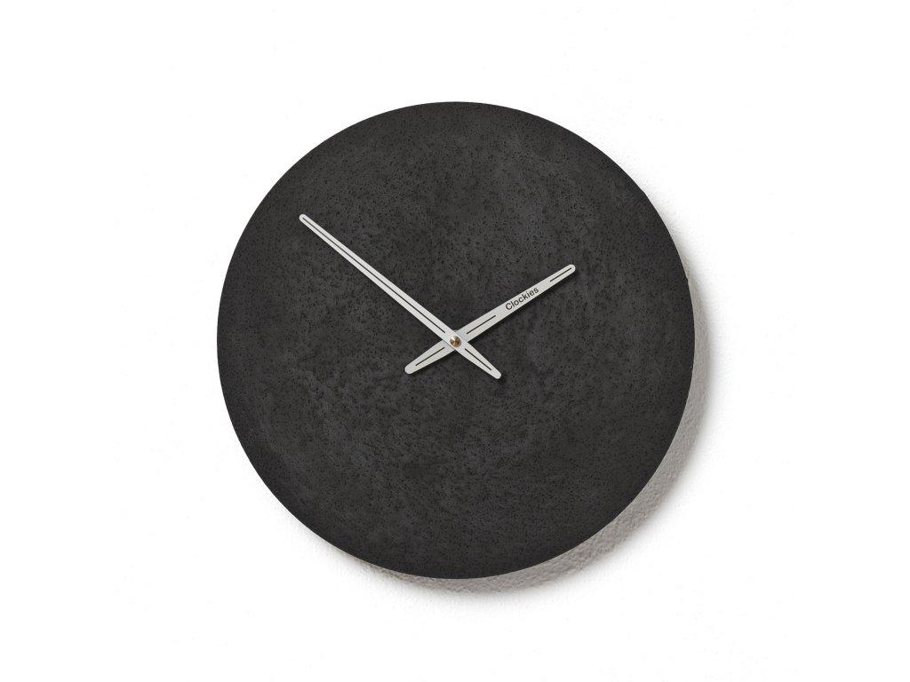 CL300308 Černé hodiny z betonu